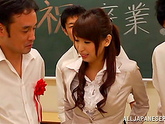 A cute Japanese teacher gets..