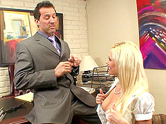 Angelina Ash gets nailed in the office..