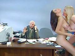Seductive babes with big tits..