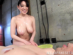 Lustful Asian milf is hungry for a..