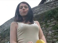 Hot Italian teen shows off her..