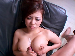 Let this busty Japanese girl make you..