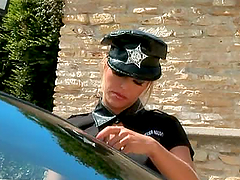 Sexy police officer punishes a bad and..