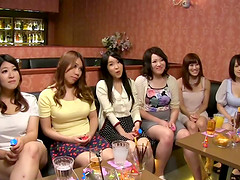 At a night out wild Asian party girls..