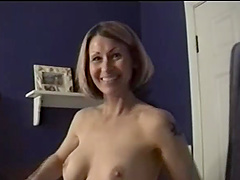 Amateur blond milf gets face-fucked by..