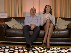 Lustful British couple pick up a hot..