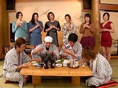 Traditional Japanese hardcore sex orgy..