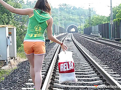 Teen roams the railroad tracks until..