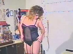 Masturbating babe in stockings toys..