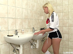 German sports lady sneaks to the..