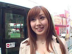 Busty Japanese girl Haruka Kitano gets..