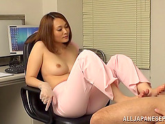 Hot Japanese doctor gives her patient..