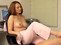 Foot fetish Asian nurse gets bonked..