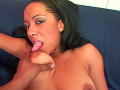 Fleshy ebony with massive tits having..