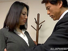 Old fart fucks a perfect Japanese MILF..