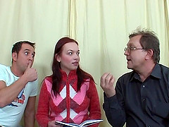 Ass licking redheaded Russian takes a..