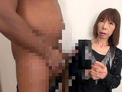 Skinny mature Asian gets her pussy..