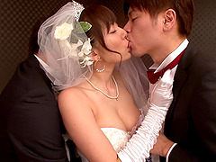 Gorgeous Asian bride cheats on her new..