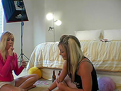 Two topless amateur beauties mess..