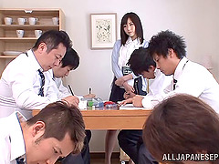 Delicious Japanese teacher getting..