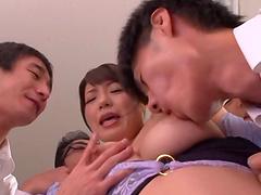 Flirtatious Asian babe gets a facial..