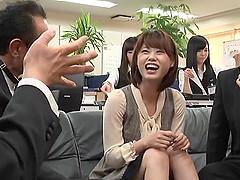 Gangbanging a Japanese secretary while..