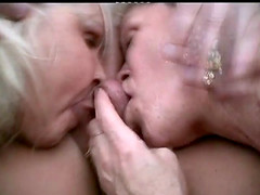 Two cock thirsty grannies decide to..