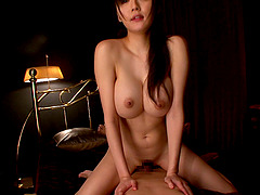 Her hairy Japanese pussy gets..