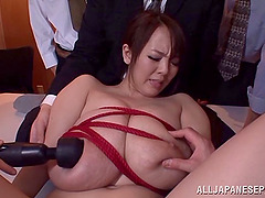Vivacious Japanese broad with big tits..