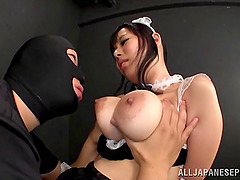 Her big Japanese melons get squeezed..