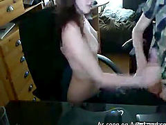Cutie giving her BF a handjob until he..