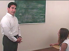 Classroom action with naughty porn..