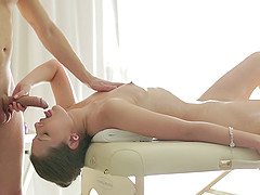 Romantic stud gives a sensual massage..