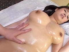 Big tits Asian honey enjoys an erotic..