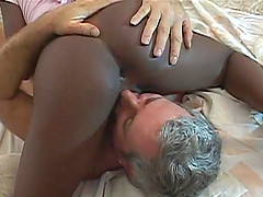 Ebony bimbo with nice ass gets drilled..