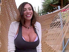 Huge titty milf Ariella Ferrera fucked..
