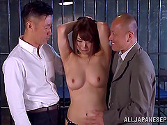 Big boobs Japanese dame moans in..