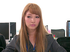 Office slut from Japan getting her..