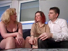 A German couple hooks up with another..
