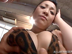 Big tits Japanese babe delivers a wild..