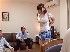 Sexy Asian lady gets gangbanged hard..