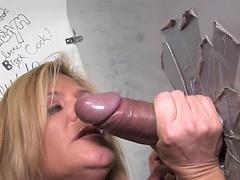 Mature blonde has some naughty fun..
