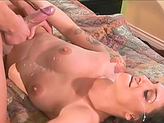 Cougar with tattoo is licked,fucked..
