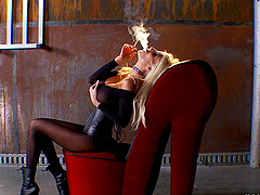 Naughty solo chick Puma Swede plays..