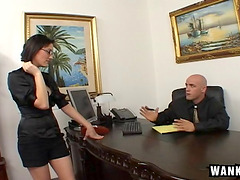 His secretary is also a naughty cock..