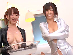 Sexy Japanese sluts in latex shares..