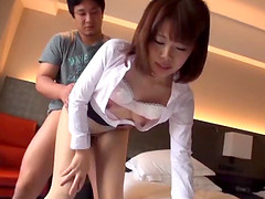 Kinky and cute Japanese hottie is busy..