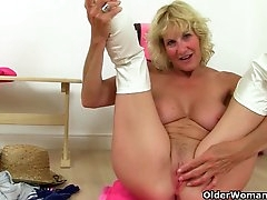 British granny Molly gets naughty in..