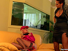 Erotic bimbos engage in a steamy..