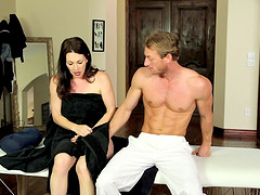 Milf fucks her hunky masseur because..